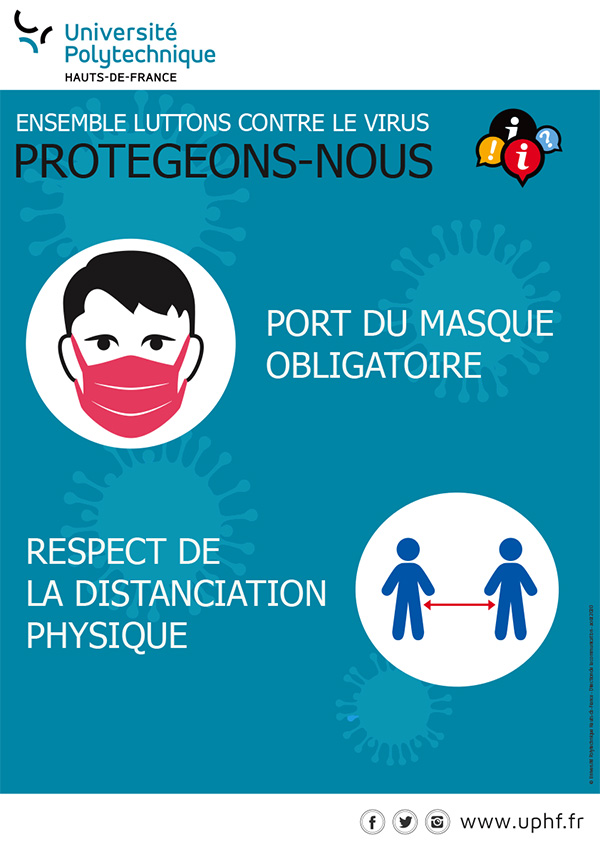 Affiche masque et distanciation